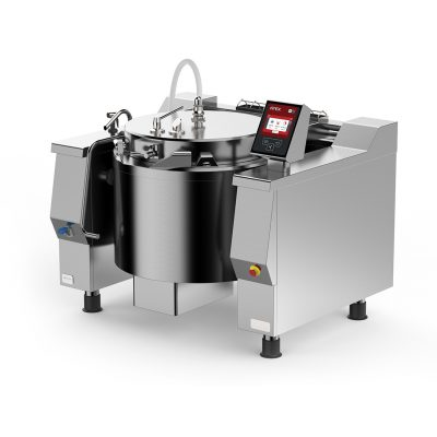 Gas Tilting Braising Pan with Autoclave 48 gallon Cucimix UCBTG048AV1
