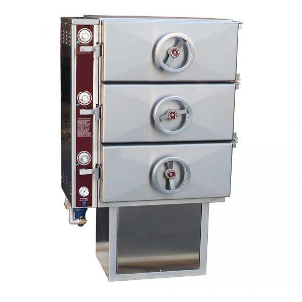 Direct Steam Compartment Steamer on Pedestal Base