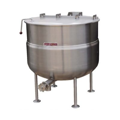 Stationary Direct Steam Kettle 2/3 Jacketed 125 gallons DL-125