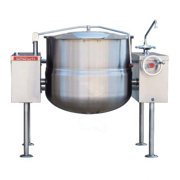 Direct Steam Tilting Kettle with Crank 60 gallons DLT-60TC
