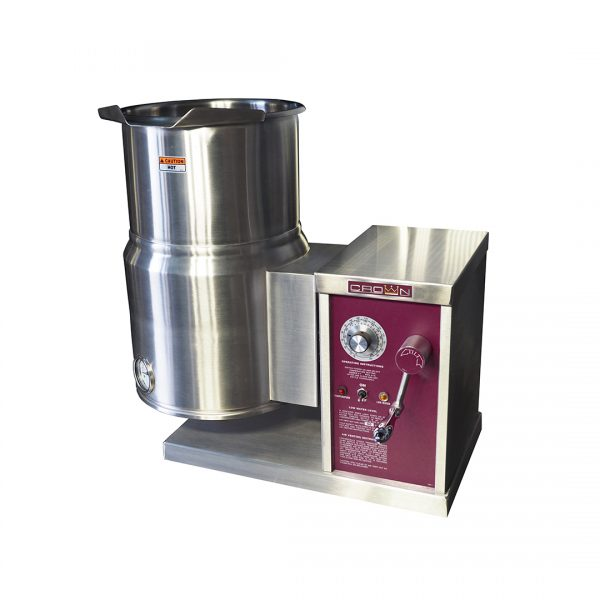Electric Counter Tilting Kettle with Crank 6 gallons ECT-6