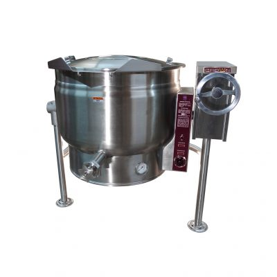 Electric Tilting Kettle Full Jacketed with Crank 40 gallons ELT-20F