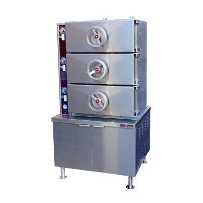 Gas Pressure Steamer Compartment Cooker GC-3